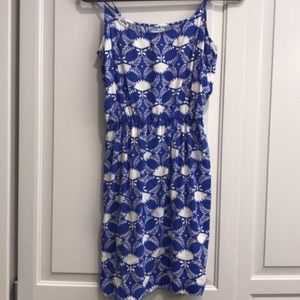 Cute Navy & White Flower Dress